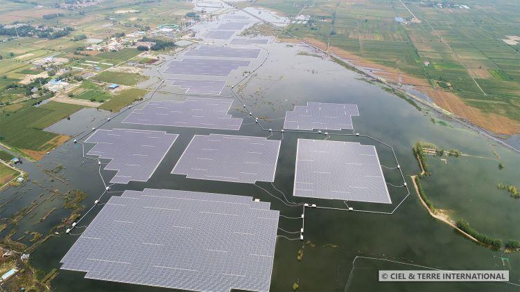 В Китай бе пусната в експлоатация най-голямата плаваща слънчева централа в света